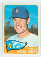 1965 Topps Baseball 112 Derrell Griffith Los Angeles Dodgers Excellent to Mint