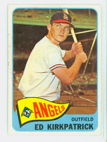 1965 Topps Baseball 393 Ed Kirkpatrick High Number California Angels Excellent to Mint