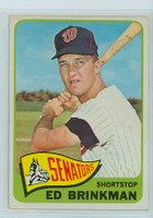 1965 Topps Baseball 417 Ed Brinkman High Number Washington Senators Excellent to Excellent Plus