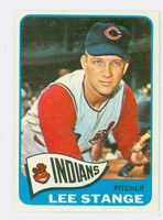 1965 Topps Baseball 448 Lee Stange High Number Cleveland Indians Excellent to Excellent Plus