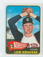 1965 Topps Baseball 462 Lew Krausse High Number Kansas City Athletics Excellent to Excellent Plus