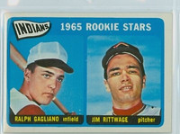 1965 Topps Baseball 501 Indians Rookies High Number Excellent to Mint