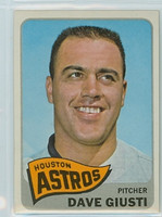 1965 Topps Baseball 524 Dave Giusti High Number Single Print Houston Astros Excellent to Mint