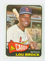 1965 Topps Baseball 540 Lou Brock High Number St. Louis Cardinals Excellent to Mint