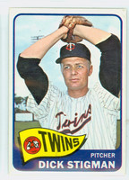 1965 Topps Baseball 548 Dick Stigman High Number Minnesota Twins Excellent