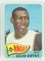 1965 Topps Baseball 552 Julio Gotay High Number California Angels Very Good to Excellent