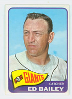 1965 Topps Baseball 559 Ed Bailey High Number Single Print San Francisco Giants Excellent to Mint