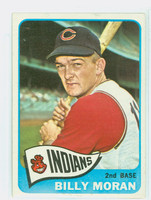 1965 Topps Baseball 562 Billy Moran High Number Cleveland Indians Excellent
