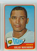 1965 Topps Baseball 563 Julio Navarro High Number Detroit Tigers Excellent