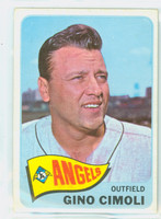 1965 Topps Baseball 569 Gino Cimoli High Number Single Print California Angels Excellent