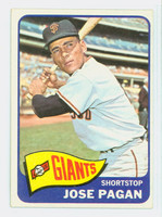 1965 Topps Baseball 575 Jose Pagan High Number San Francisco Giants Excellent