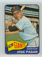 1965 Topps Baseball 575 Jose Pagan High Number San Francisco Giants Excellent to Excellent Plus