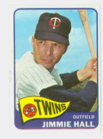1965 Topps Baseball 580 Jimmie Hall High Number Single Print Minnesota Twins Excellent