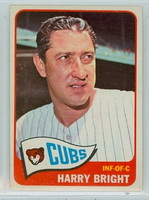 1965 Topps Baseball 584 Harry Bright High Number Chicago Cubs Excellent to Excellent Plus
