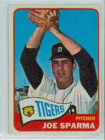 1965 Topps Baseball 587 Joe Sparma High Number Detroit Tigers Excellent to Excellent Plus