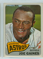 1965 Topps Baseball 594 Joe Gaines High Number Houston Astros Excellent to Excellent Plus