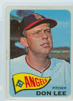 1965 Topps Baseball 595 Don Lee High Number California Angels Excellent to Mint