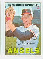 1967 Topps Baseball 19 Jim McGlothlin California Angels Excellent to Mint
