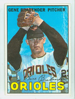 1967 Topps Baseball 22 Gene Brabender Baltimore Orioles Excellent to Mint