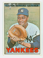 1967 Topps Baseball 25 Elston Howard New York Yankees Excellent to Excellent Plus