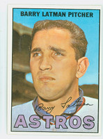 1967 Topps Baseball 28 Barry Latman Houston Astros Excellent to Mint