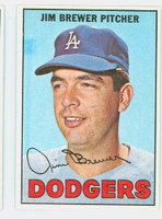 1967 Topps Baseball 31 Jim Brewer Los Angeles Dodgers Excellent to Mint