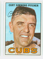 1967 Topps Baseball 39 Curt Simmons Chicago Cubs Excellent to Mint