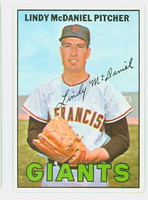 1967 Topps Baseball 46 Lindy McDaniel San Francisco Giants Excellent to Mint