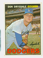 1967 Topps Baseball 55 Don Drysdale Los Angeles Dodgers Good to Very Good