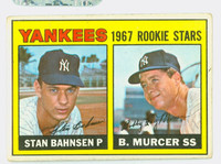 1967 Topps Baseball 93 Yankees Rookies Fair to Good