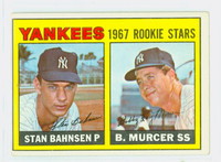 1967 Topps Baseball 93 Yankees Rookies Very Good