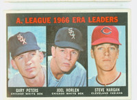 1967 Topps Baseball 233 AL ERA Leaders Very Good
