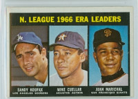 1967 Topps Baseball 234 NL ERA Leaders Very Good to Excellent