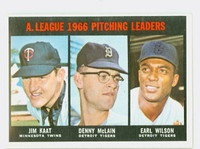1967 Topps Baseball 235 AL Pitching Leaders Excellent to Excellent Plus