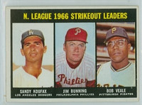 1967 Topps Baseball 238 NL Strikeout Leaders Excellent