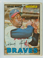 1967 Topps Baseball 250 Hank Aaron Atlanta Braves Good to Very Good