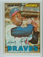 1967 Topps Baseball 250 Hank Aaron Atlanta Braves Very Good