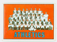 1967 Topps Baseball 262 Athletics Team Very Good to Excellent