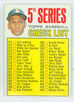 1967 Topps Baseball 361 Checklist Five Pittsburgh Pirates Good to Very Good