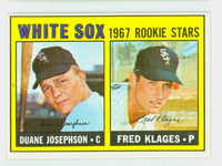 1967 Topps Baseball 373 White Sox Rookies Excellent