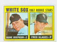 1967 Topps Baseball 373 White Sox Rookies Excellent to Excellent Plus