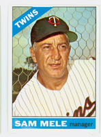 1966 Topps Baseball 3 Sam Mele Minnesota Twins Excellent
