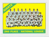 1966 Topps Baseball 19 Giants Team Excellent to Mint