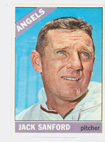 1966 Topps Baseball 23 Jack Sanford California Angels Excellent