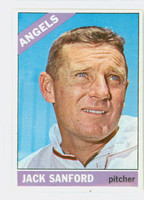 1966 Topps Baseball 23 Jack Sanford California Angels Excellent to Mint