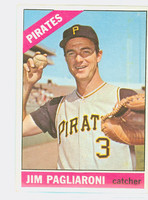 1966 Topps Baseball 33 Jim Pagliaroni Pittsburgh Pirates Excellent