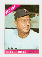 1966 Topps Baseball 37 Billy Herman Boston Red Sox Excellent to Mint