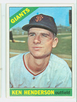1966 Topps Baseball 39 Ken Henderson San Francisco Giants Excellent