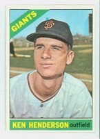 1966 Topps Baseball 39 Ken Henderson San Francisco Giants Excellent to Mint