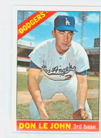 1966 Topps Baseball 41 Don LeJohn Los Angeles Dodgers Excellent